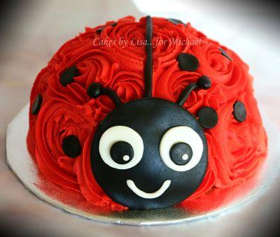 Pleasant Ladybug 1St Birthday Smash Cake Bug Birthday Cakes Lady Bug Birthday Cards Printable Giouspongecafe Filternl
