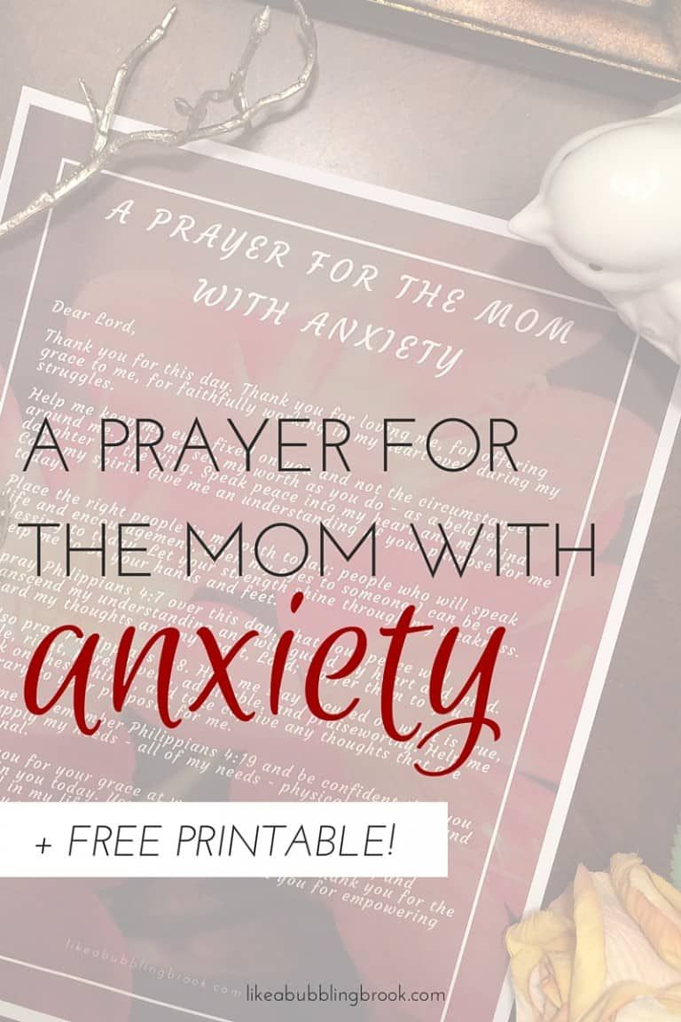 A Simple Prayer for Anxiety (+ Free Printable Version)