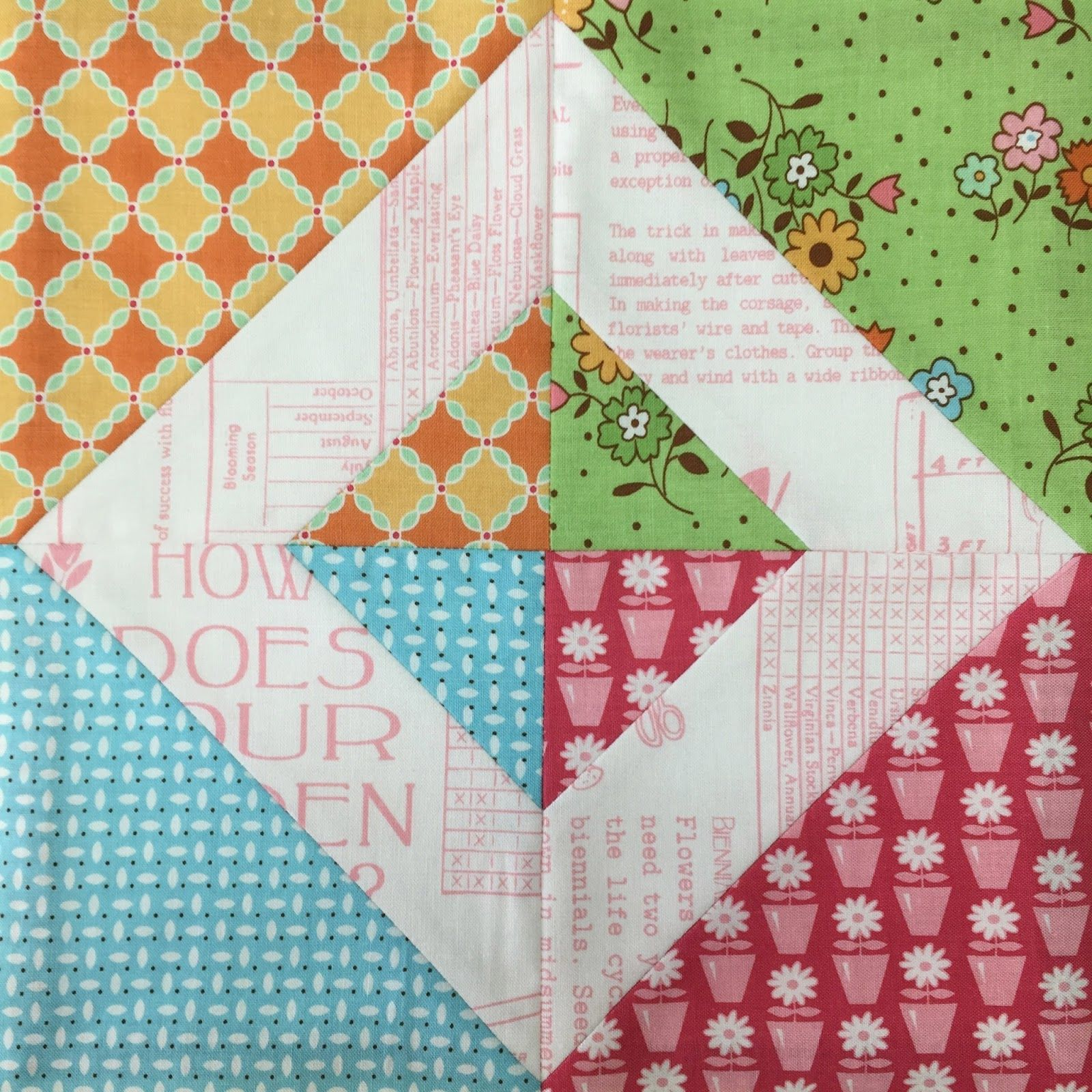 Bee In My Bonnet My Flower Box Quilt Block Tutorial and Sew Along