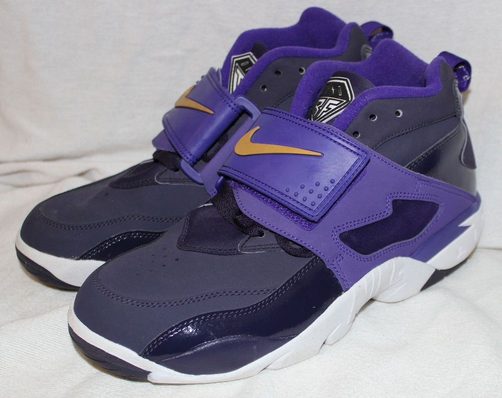 Nike Air Diamond Turf Size 9 Purple Dynasty Metallic Gold Deion Sanders #  nike