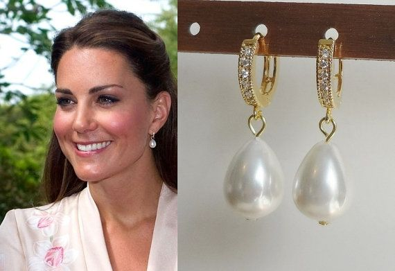 Kate Middleton Inspired White Genuine Large South Sea