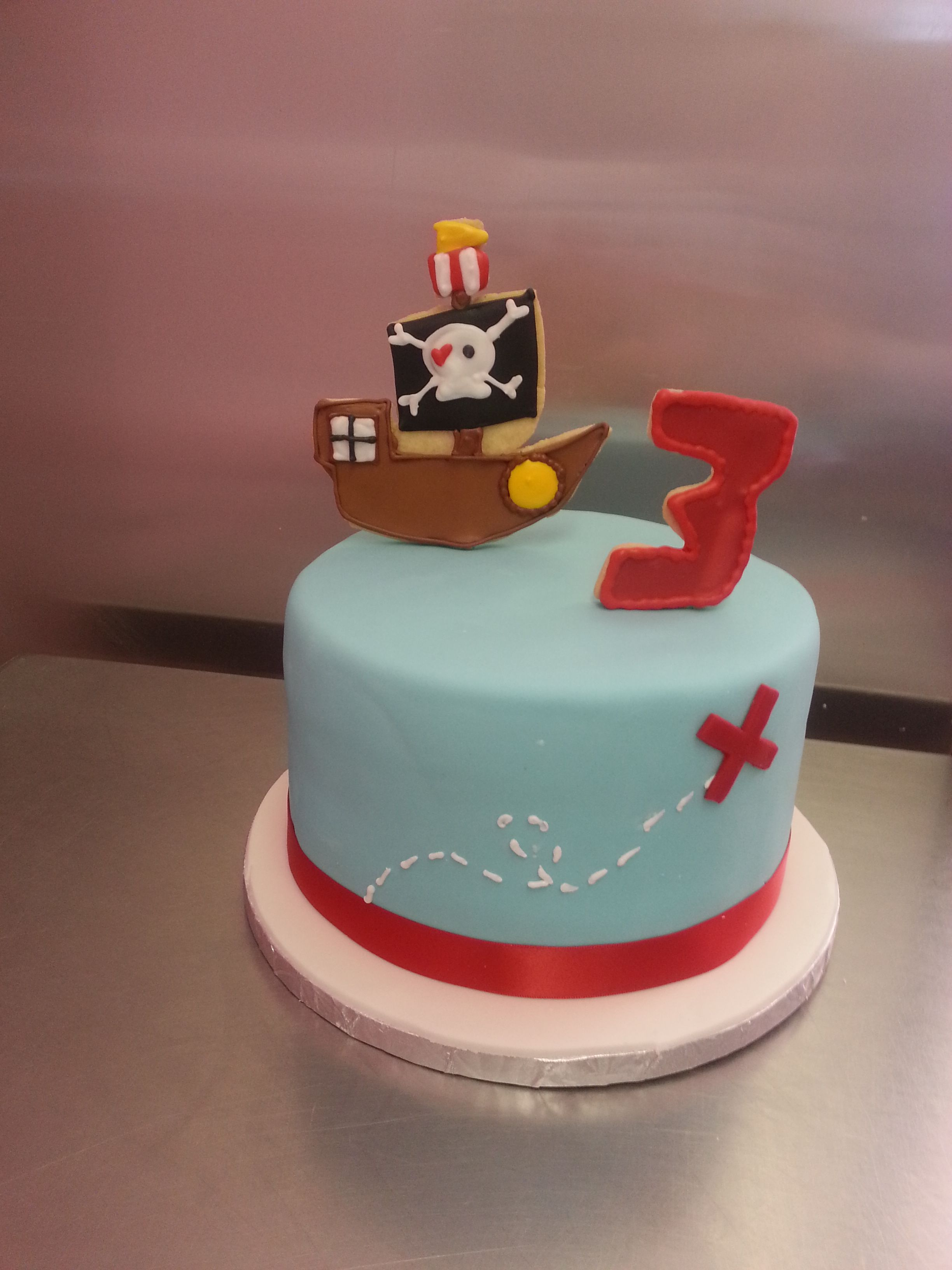 Ahoy x marks the spot on our pirate cake birthday cake
