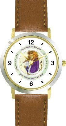 Ole or Old King Cole - from Mother Goose by Artist: Sylvia Long - WATCHBUDDY® DELUXE TWO-TONE THEME WATCH - Arabic Numbers - Brown Leather Strap-Size-Children's Size-Small ( Boy's Size & Girl's Size ) WatchBuddy. $49.95. Save 38%!