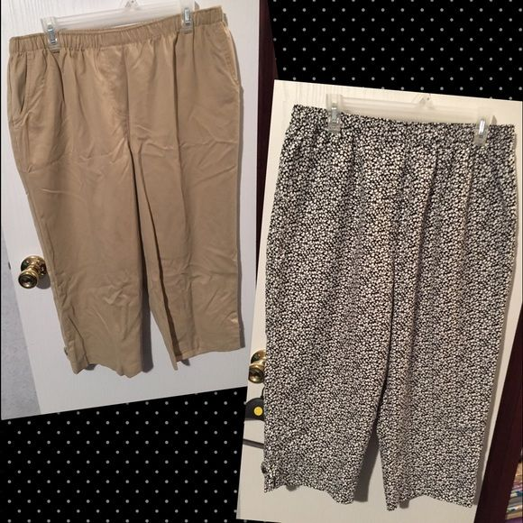 "Capris 2fer Alison Daley capris. Both have elastic waists. Inseam is about 19 1/2"" long. Sz. 16.  ☀️Stock up for Summer!!!☀️ Alison Daley Pants Capris"