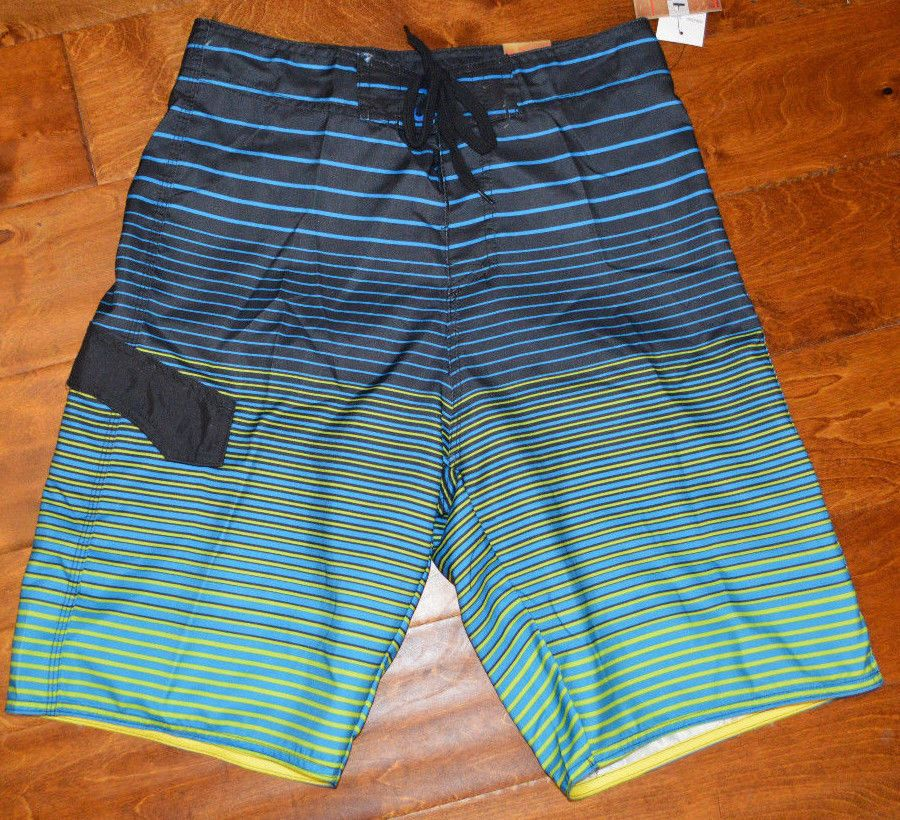22c8474229 Men's Burnside Blue Electric Stripe Street & Surf Board Shorts Sizes 28,  30, 34 #Burnside #BoardShorts