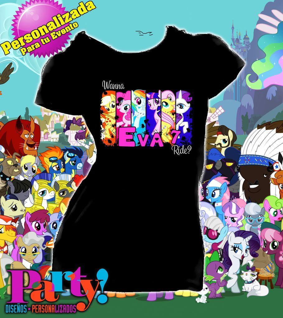 3b40e1a4e4ed0 Playera Personalizada My Little Pony Fiesta - Jinx