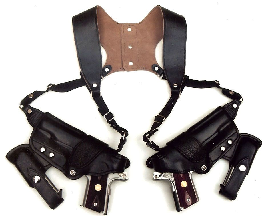 Tauris Holster Yes it is spelled that way, and no, this company has no  relation to Taurus the firearm manufacturer. Pictured is a a double  shoulder holster ... 884547fa6ad