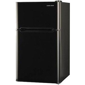 Refrigerator Freezer Combo Mini Fridge Black Decker 3 3 Cu Ft 2 Door Black Black Decker Black Refrigerator Mini Fridge