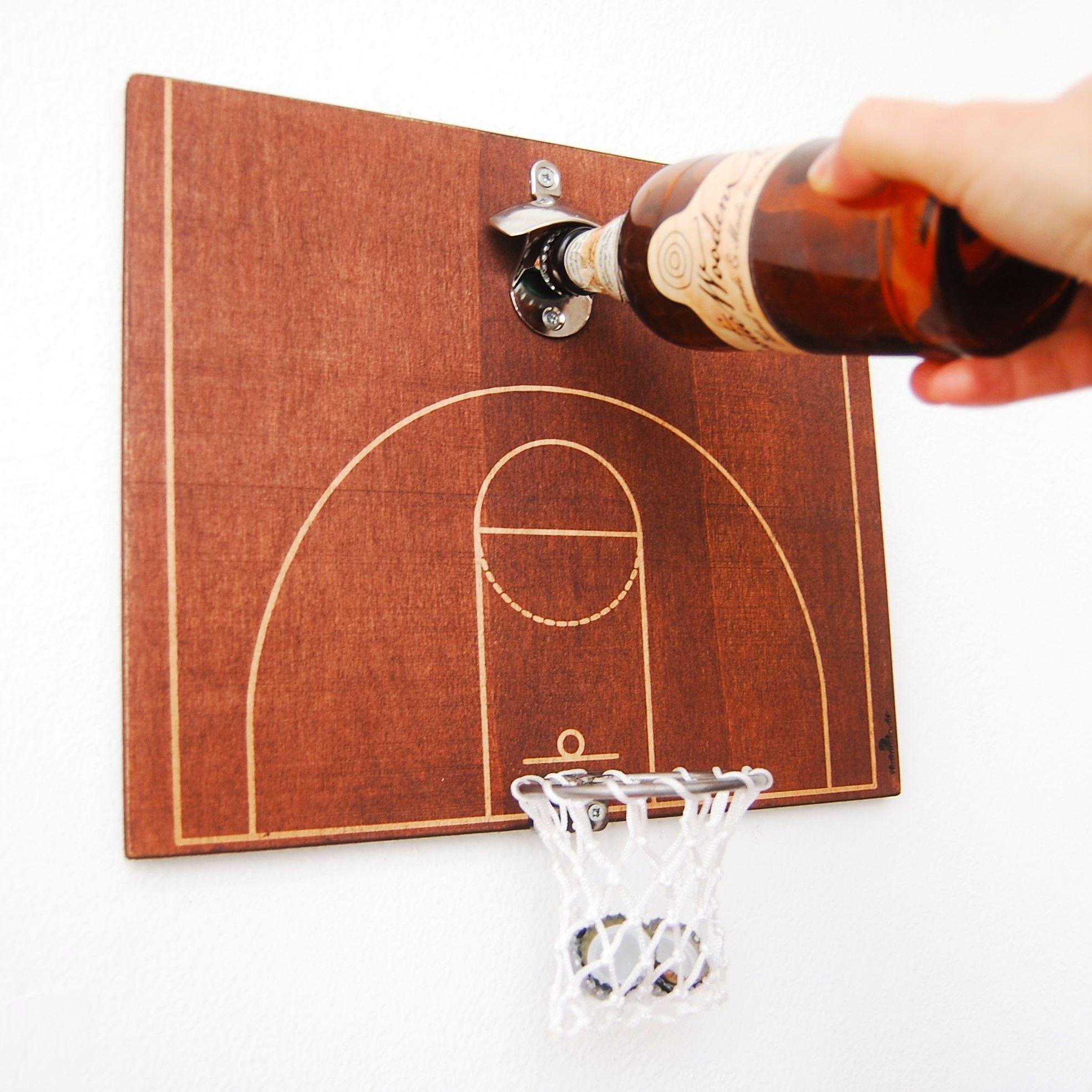 3 Point Shot Basketball Basketball Gift Bottle Opener Etsy In 2020 Beer Cap Crafts House Ceiling Design Bottle Opener