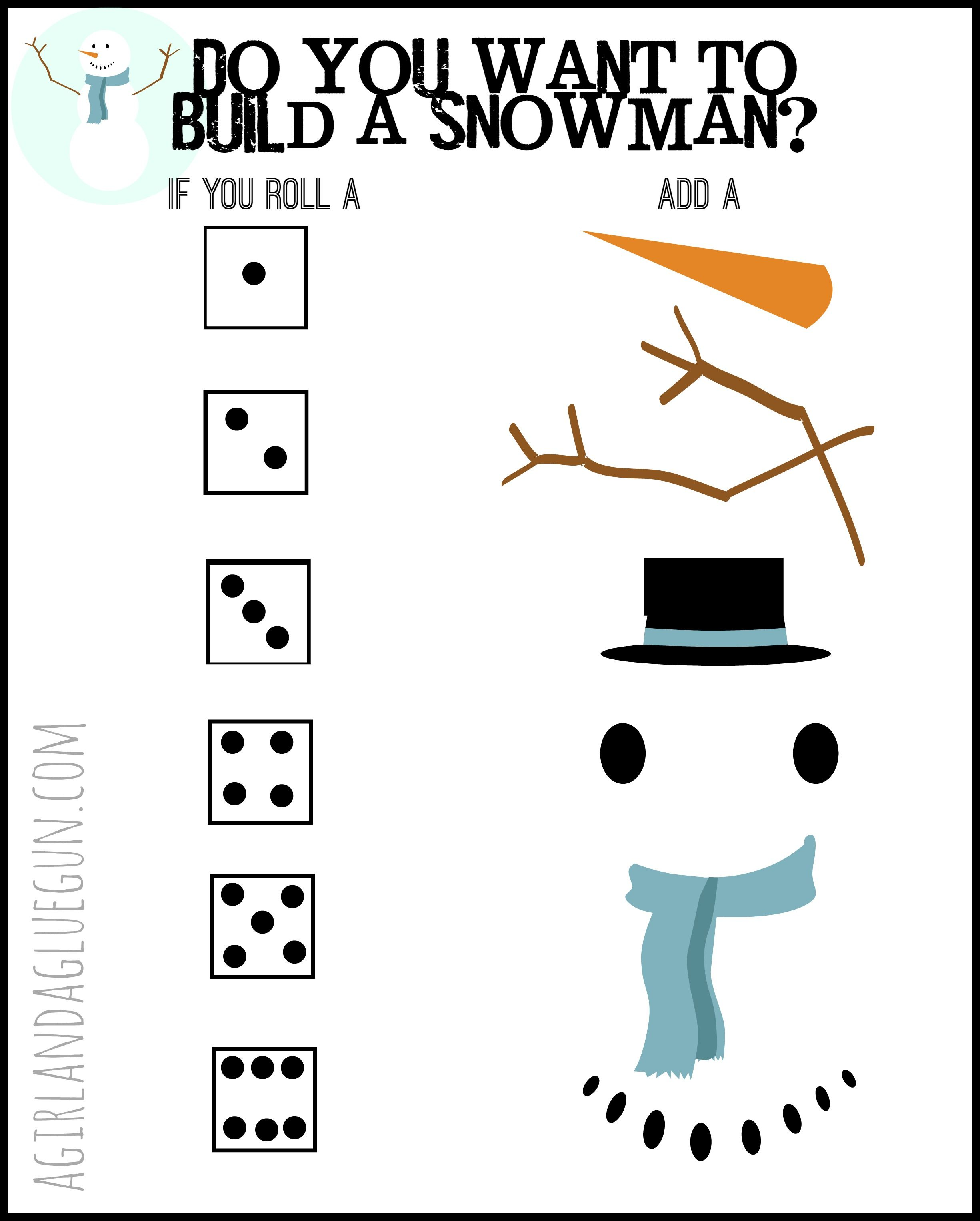 Do you want to build a snowman? Frozen Olaf game and printable ...
