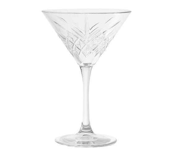 Trellis Etched Martini Glass Pottery Barn Martini Glass Cocktail Glasses Glass