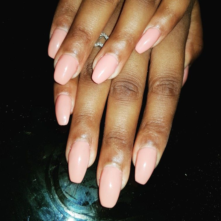 Acrylic infills with Essie nude gel polish | Acrylic Nails ...