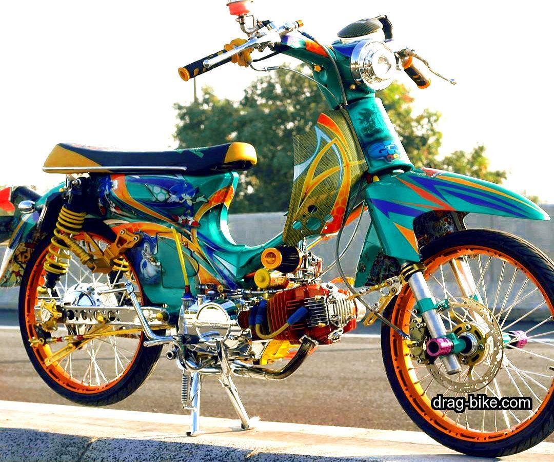 40 Foto Gambar Modifikasi Honda C70 Kontes Airbrush Klasik Keren Terbaru Drag Bike Com Honda Honda Cb Cafe Racer