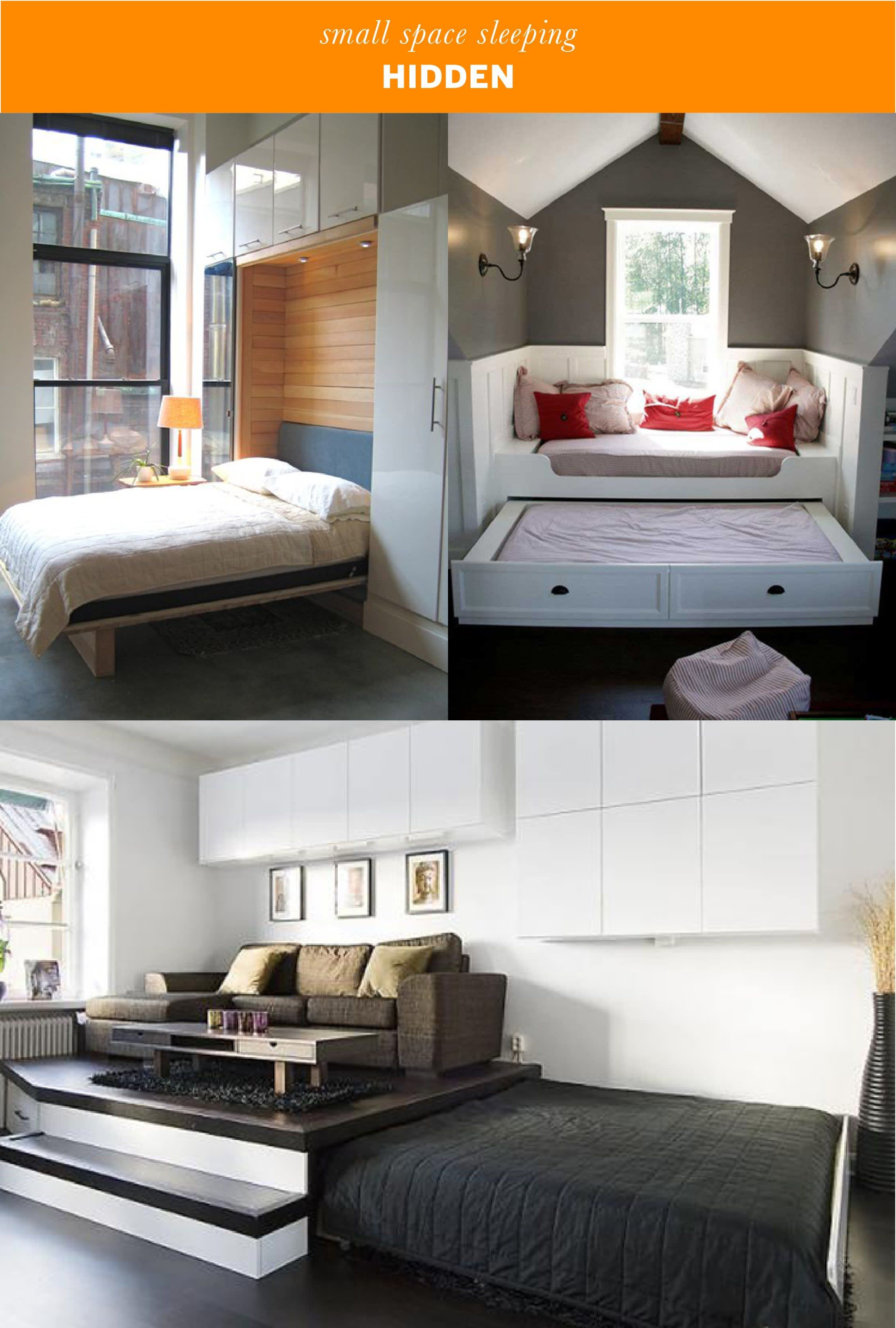 Small Space Sleeping Solutions | small apt | Living room ...