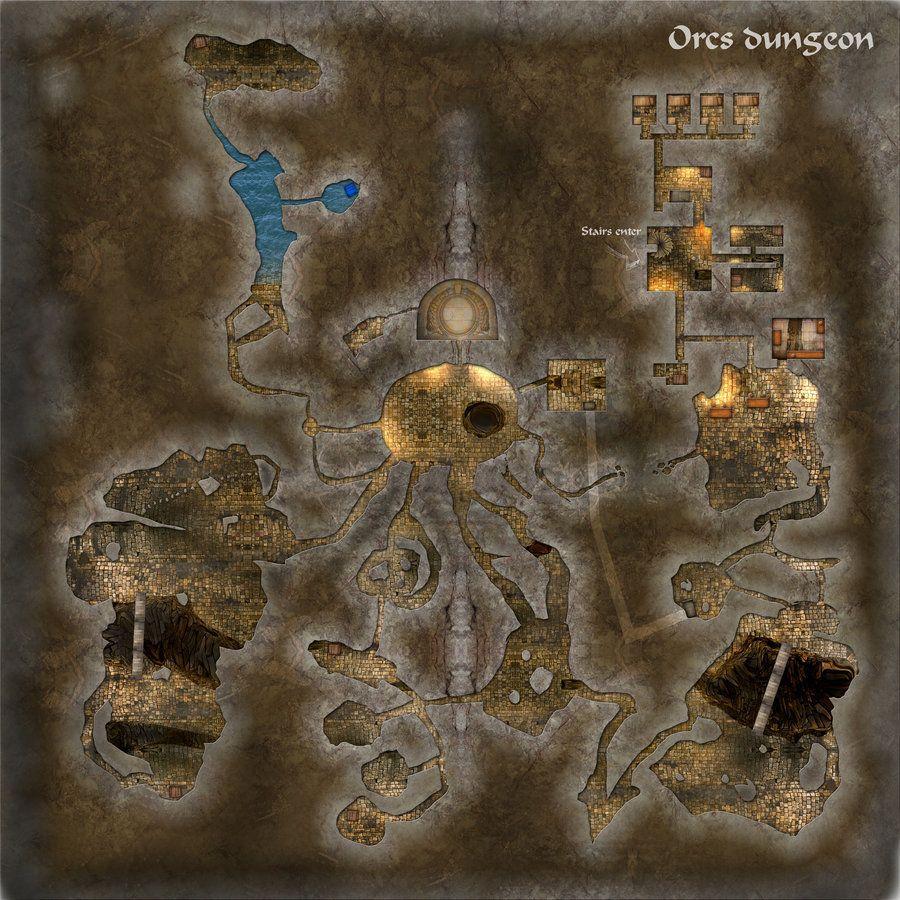 Orcs Dungeon by gulavisual deviantart com on @DeviantArt | d&d maps