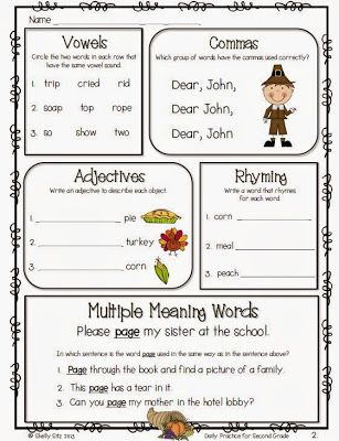 Daily Practice for Second Grade Freebie Kids Education