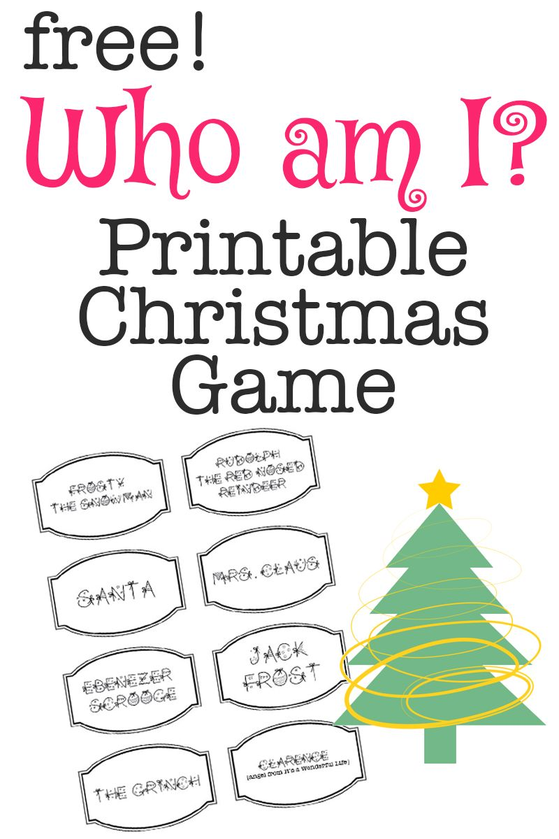 Printable Christmas Game: Who Am I? | Bloggers\' Best DIY Ideas ...