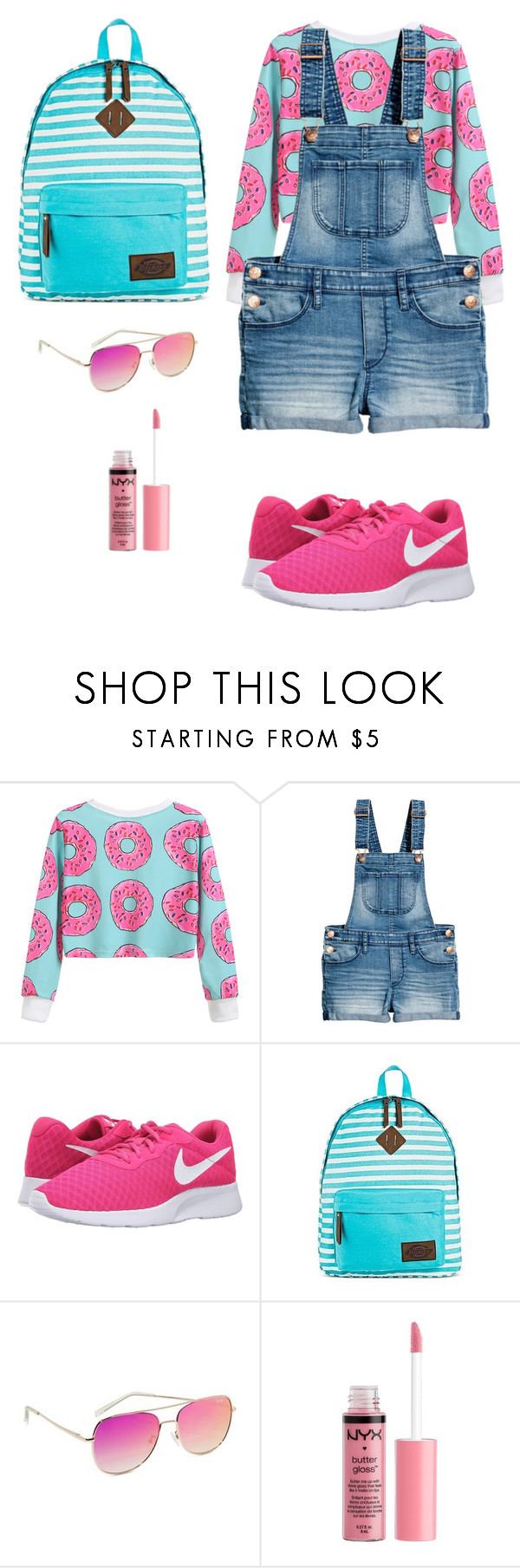"""""""Spring-Summer 17"""" by rebeca-frausto on Polyvore featuring NIKE, Dickies, Quay y Charlotte Russe"""