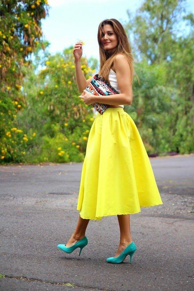 cómo llegar 100% genuino diseñador nuevo y usado outfit vestidos tul midi - Buscar con Google | faldas ...