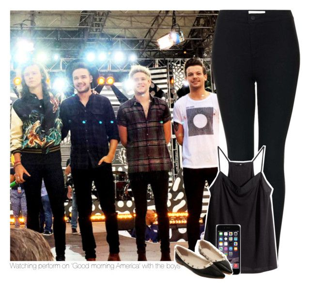 """Watching perform on 'Good morning America' with the boys"" by dilaurwntis ❤ liked on Polyvore featuring Topshop and H&M"