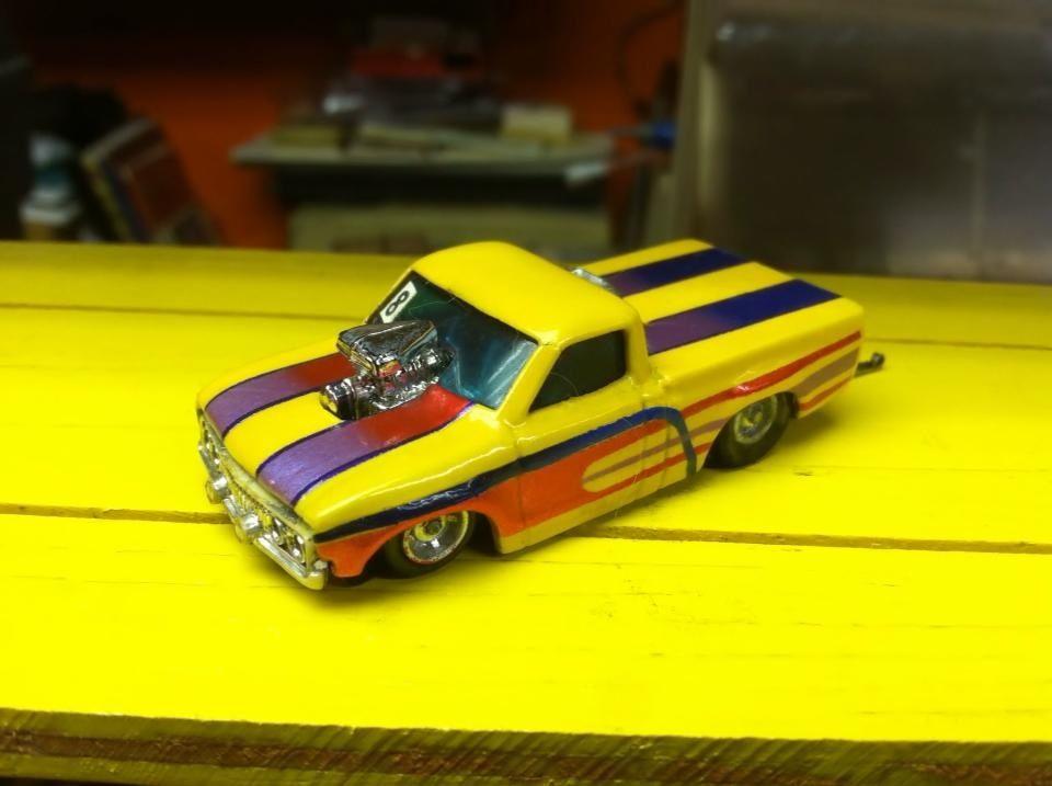 Drag racers alley mini Motorplex Ho slot car drags Fremont