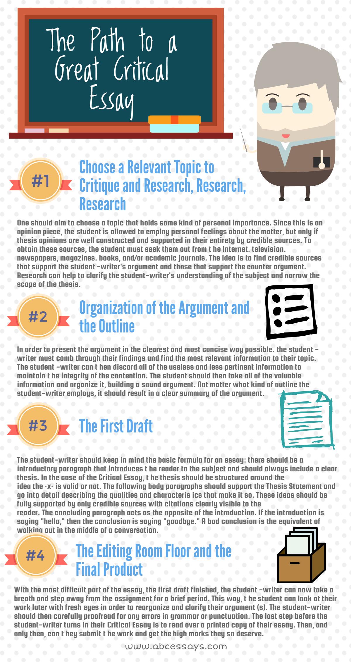Critical Essay Writing Infographics Critical Essay Essay Topics Essay Writing