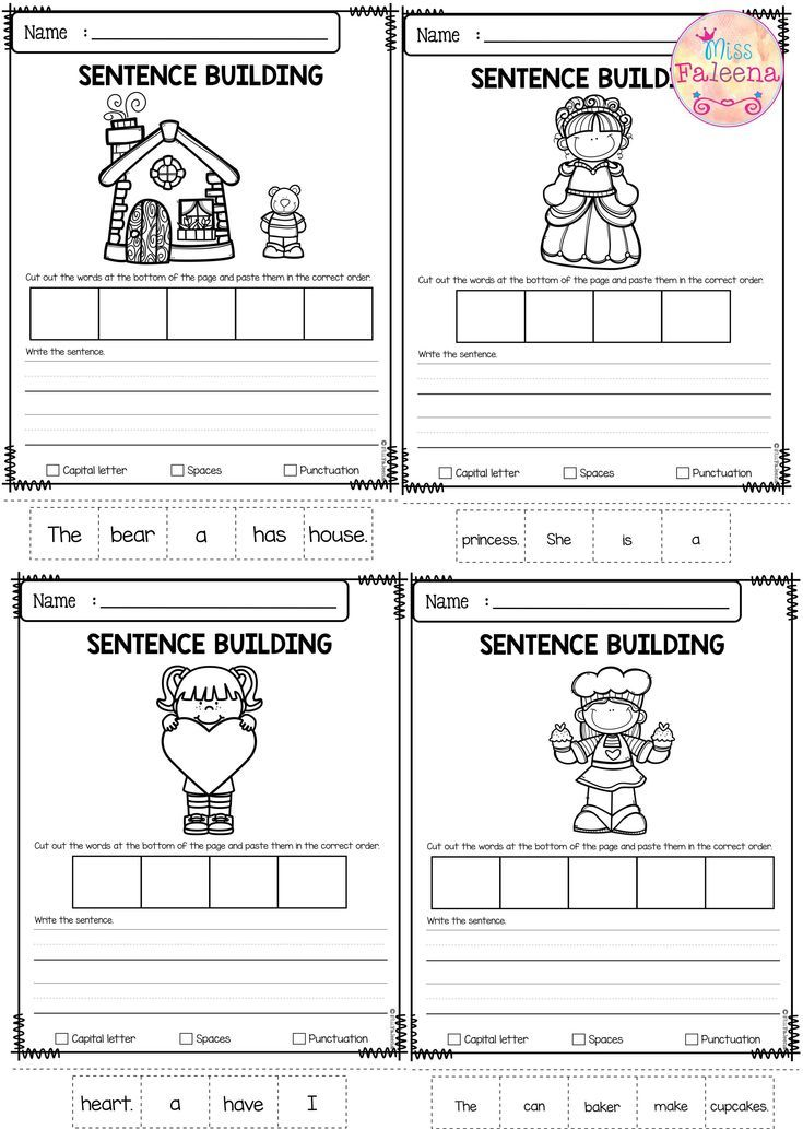 February Sentence Building | Sight word sentences ...