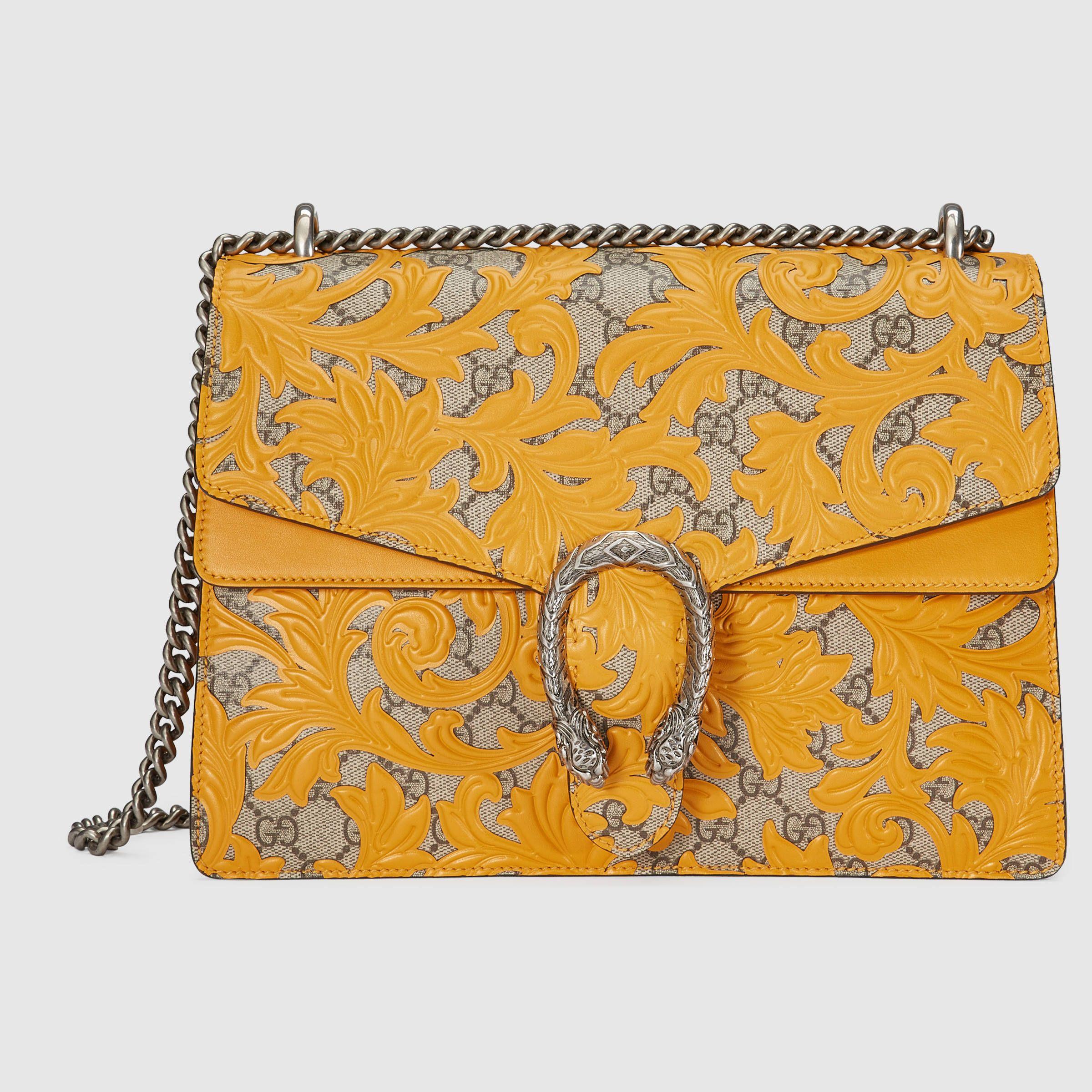Dionysus small crystal shoulder bag - Yellow & Orange Gucci licJ2EQr