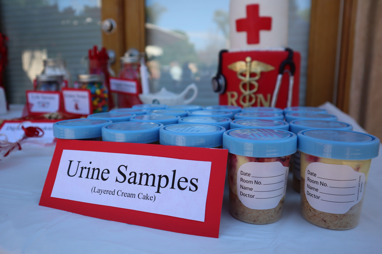 Urine Samples Diy Dessert Medical School Graduation Party Nursing Grad Party Graduation Party