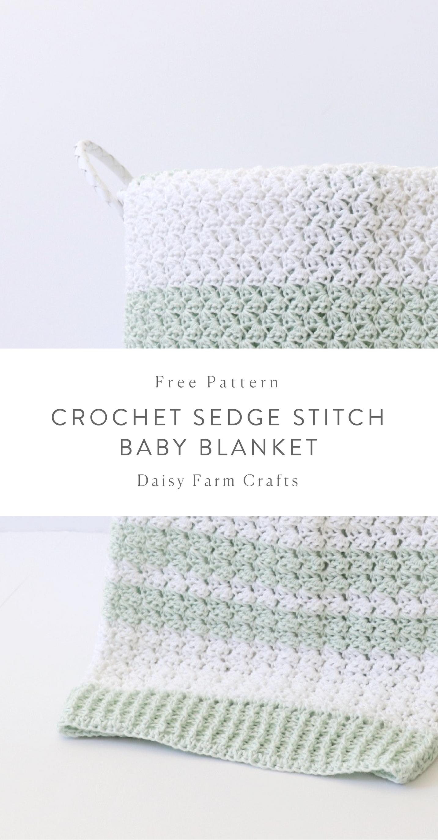 Free Pattern - Crochet Sedge Stitch Baby Blanket #crochet ...