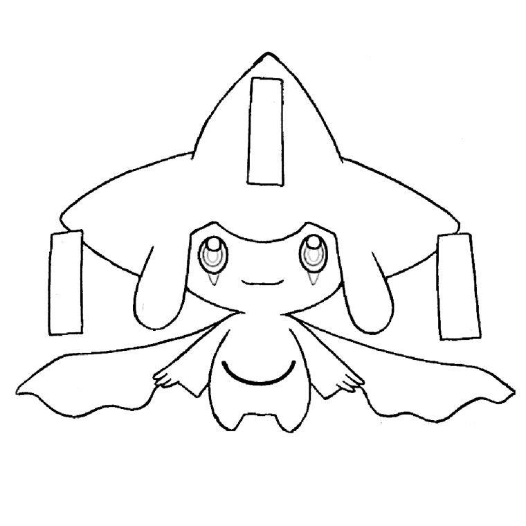 Bien connu Coloriage Pokemon Jirachi | ALEXIS | Pinterest | Anniversaire  RJ09
