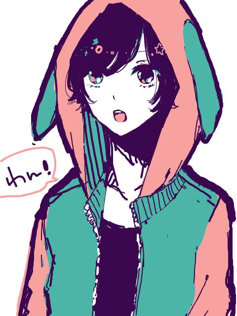 Kawaii anime Hoodie short hair Anime hoodie