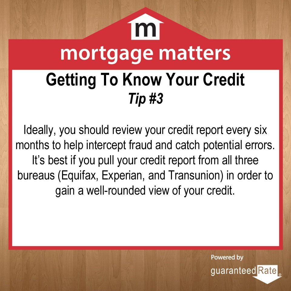 Healthy Credit Score Tips: How to read and understand your credit report  #CreditTips #MortgageMatters  Learn more at: www.guaranteedrate.com
