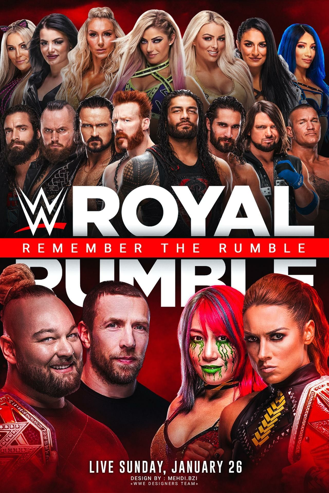 WWE ROYAL RUMBLE 2020 POSTER in 2020 Wwe royal rumble