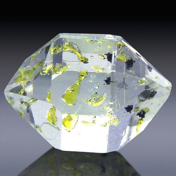 Herkimer Diamond with Petroleum Enhydros   Mineral Friends ...