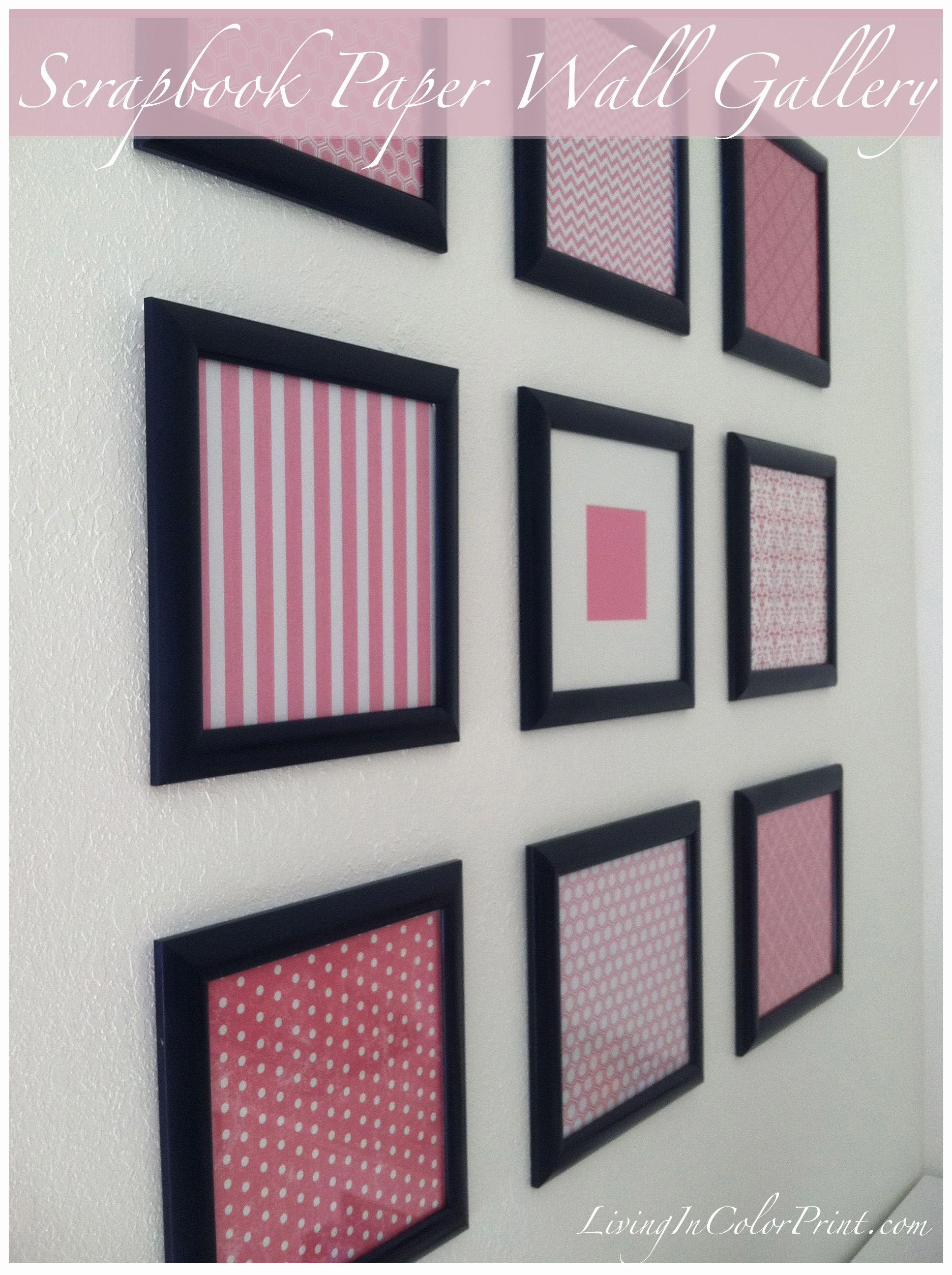 Diy Framed Scrapbook Paper Wall Gallery Framed Scrapbook Paper