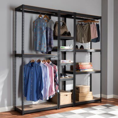 Wfx Utility 78 7 W 10 Shelf Closet Storage Racking In 2020 Closet Storage Closet Shelves Storage Shelves