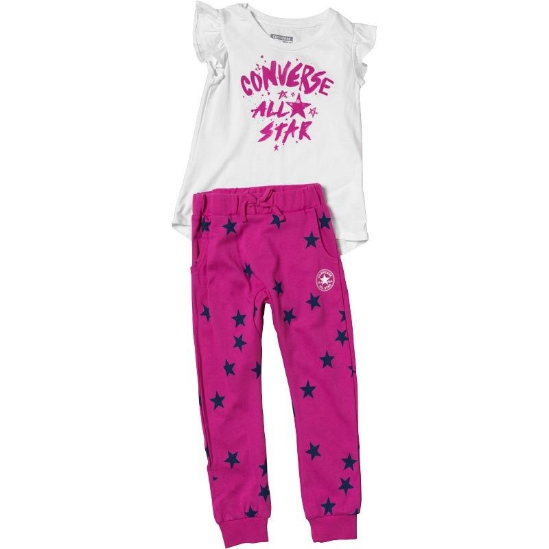 ab2900226b94 Converse Baby Girls Jogger And Tunic Set Plastic Pink - £9