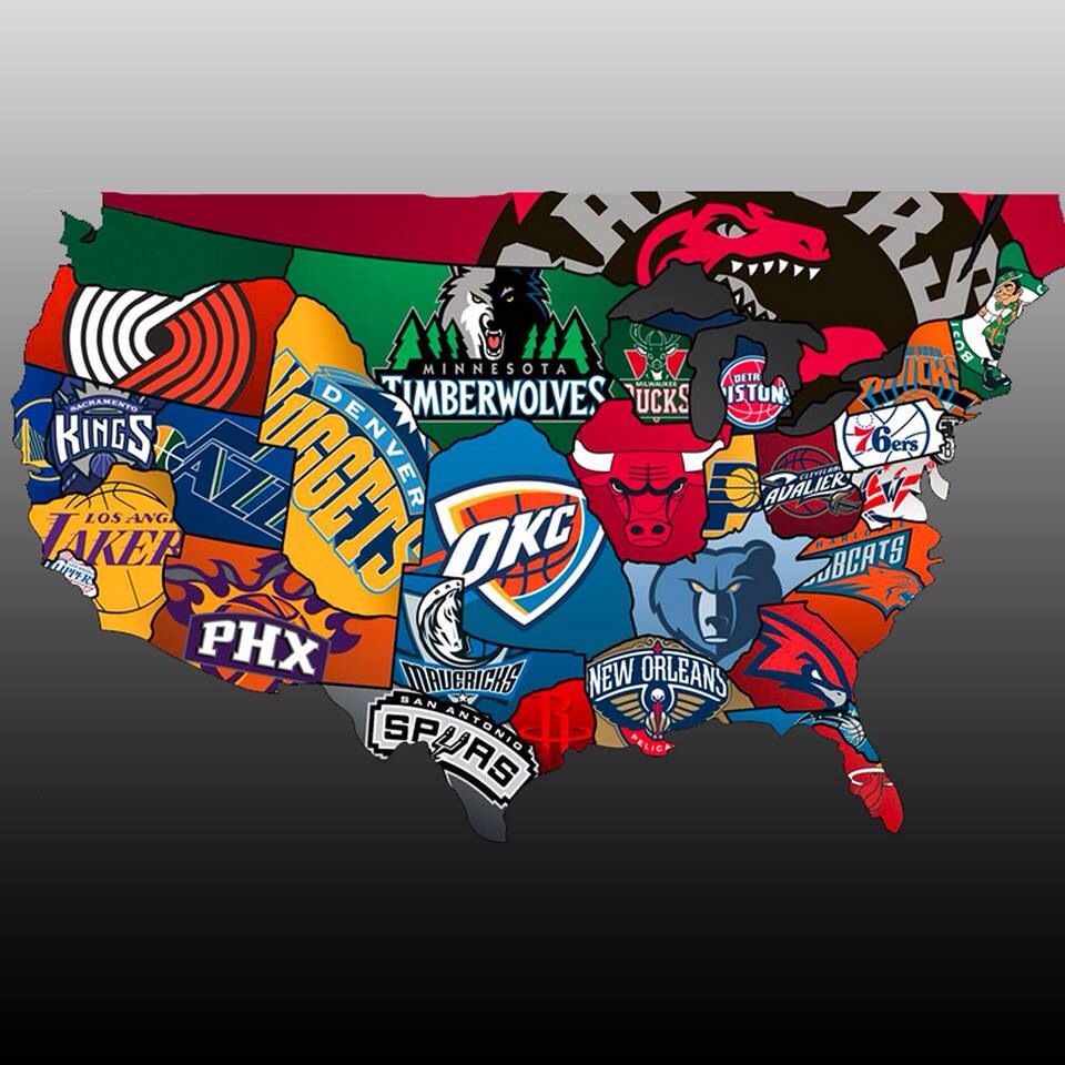 NBA Basketball Pinterest Nba NBA And Nba Basket - Map of sports teams in us