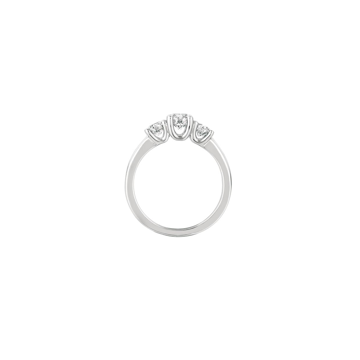 "ForeverMark Three Stone ""U"" Shaped Ring"