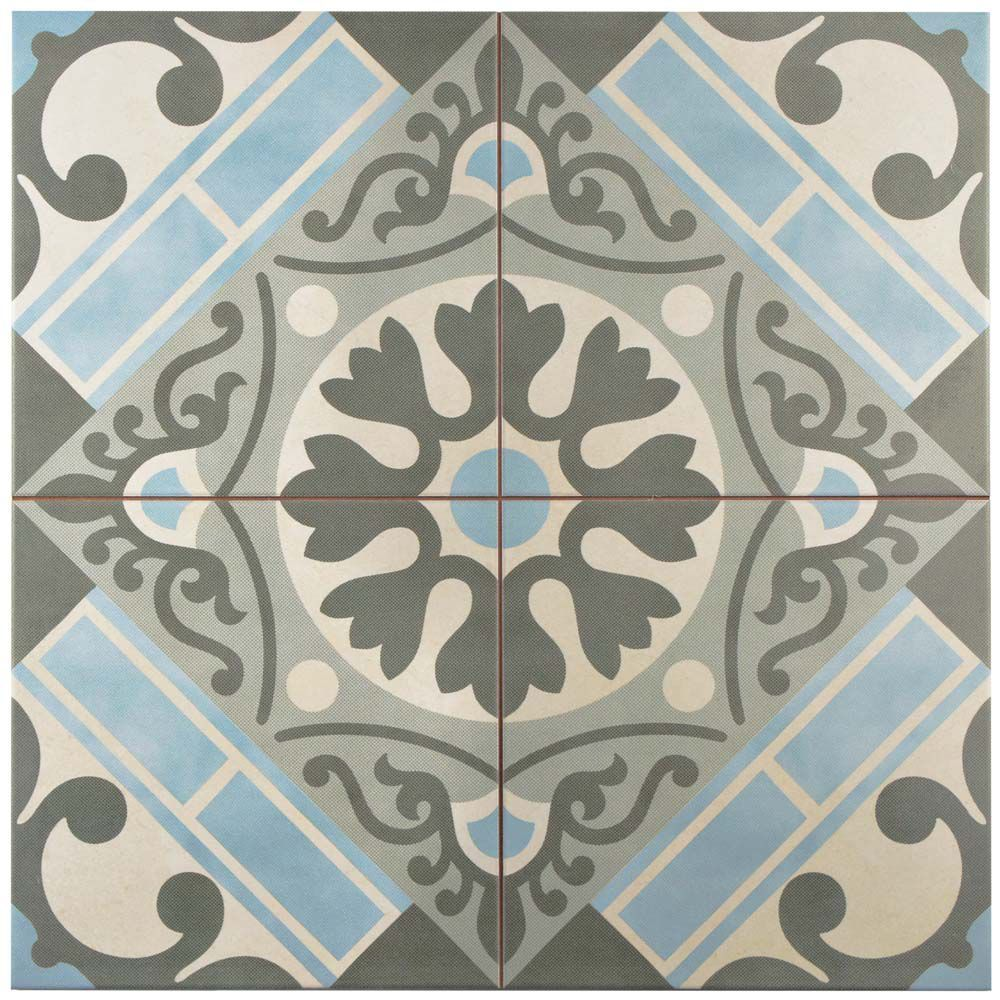 Merola Tile Faenza Azul 13 Inch X 13 Inch Ceramic Floor And Wall Tile 12 2 Sq Ft Case The Home Depot Canada Wall Tiles Tiles Modern Flooring