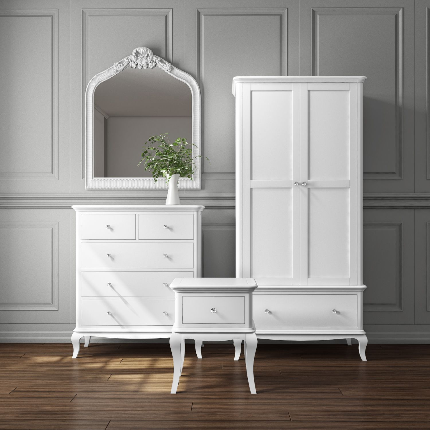Best Florentine French Style White Bedroom Furniture With 640 x 480