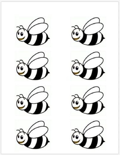 Bumble bee template printable school at home pinterest for Bee finger puppet template