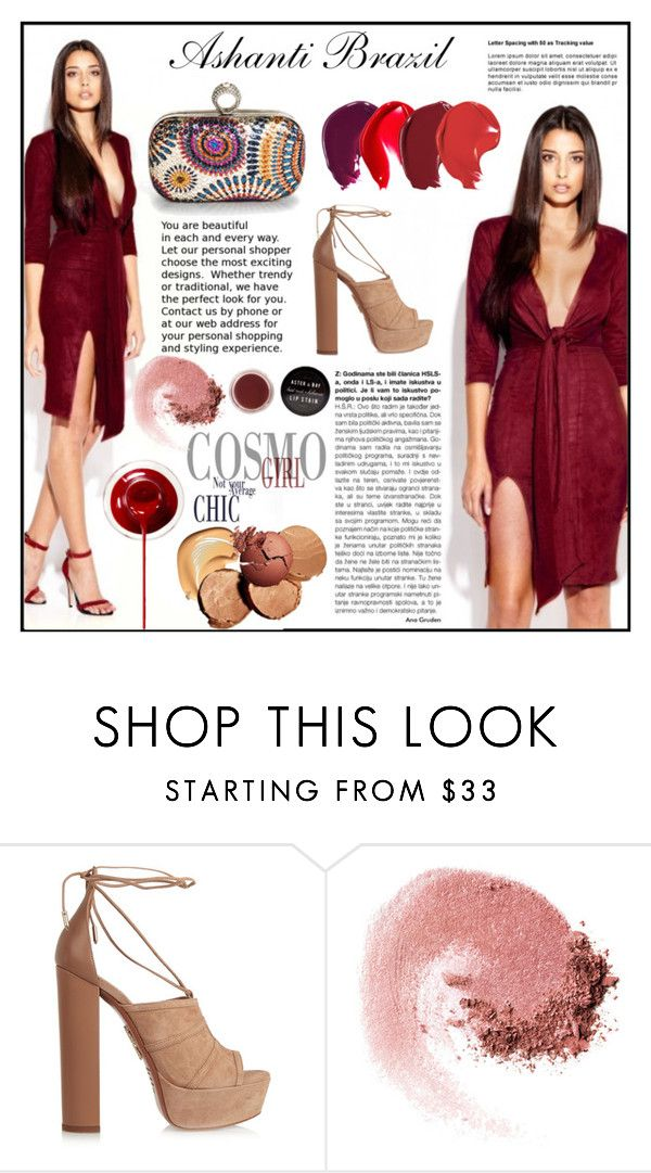 """Ashanti Brazil- Penelope Suede Dress"" by gaby-mil ❤ liked on Polyvore featuring Aquazzura, NARS Cosmetics, women's clothing, women, female, woman, misses, juniors, dress and ashantibrazil"