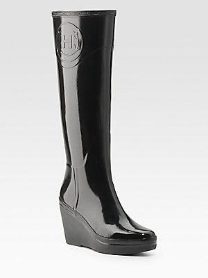 18fa906cb015a Hunter Wedge Rain Boots, sold out at Sak's | Hunter boots | Wellies ...