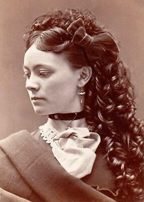 Early 1900/'s Beautiful Woman Antique 8x10 Photo Print Curls.. Gorgeous..