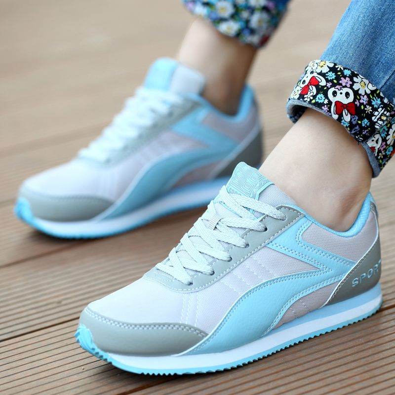 2017 women autumn and Summer red Pink white casual flats shoes Girls students Wild Flats Shoes Female lady fashion Casual Shoes
