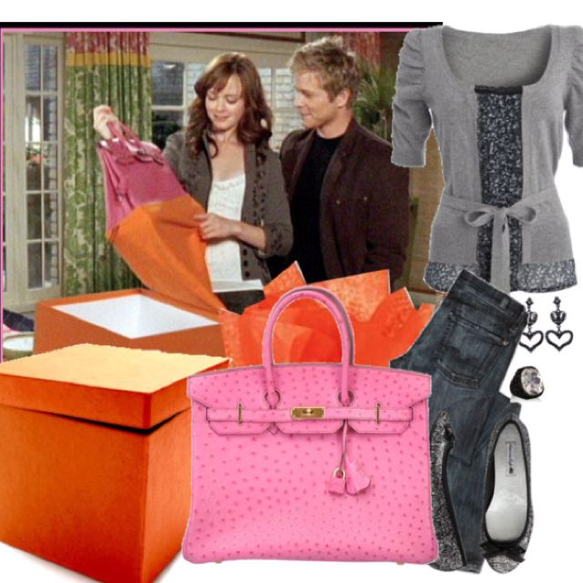 cd41a39c440a Rory Gilmore and her beautiful and very rare pink ostrich Birkin Bag ...