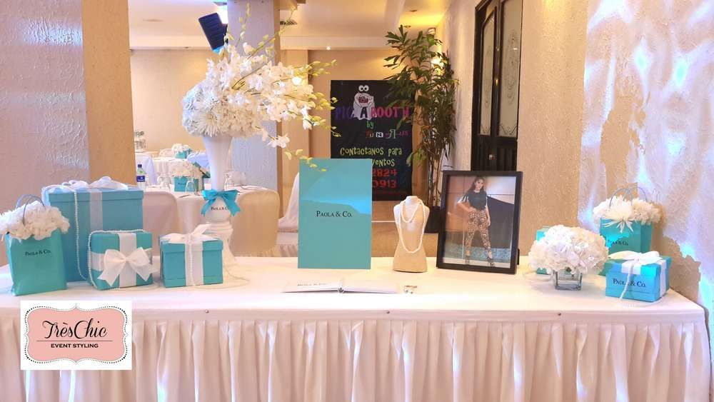 Tiffany u0026 Co Inspired Party ~ Featured Party & TIFFANY u0026 CO Quinceañera Party Ideas | Bridal showers Baby blue ...