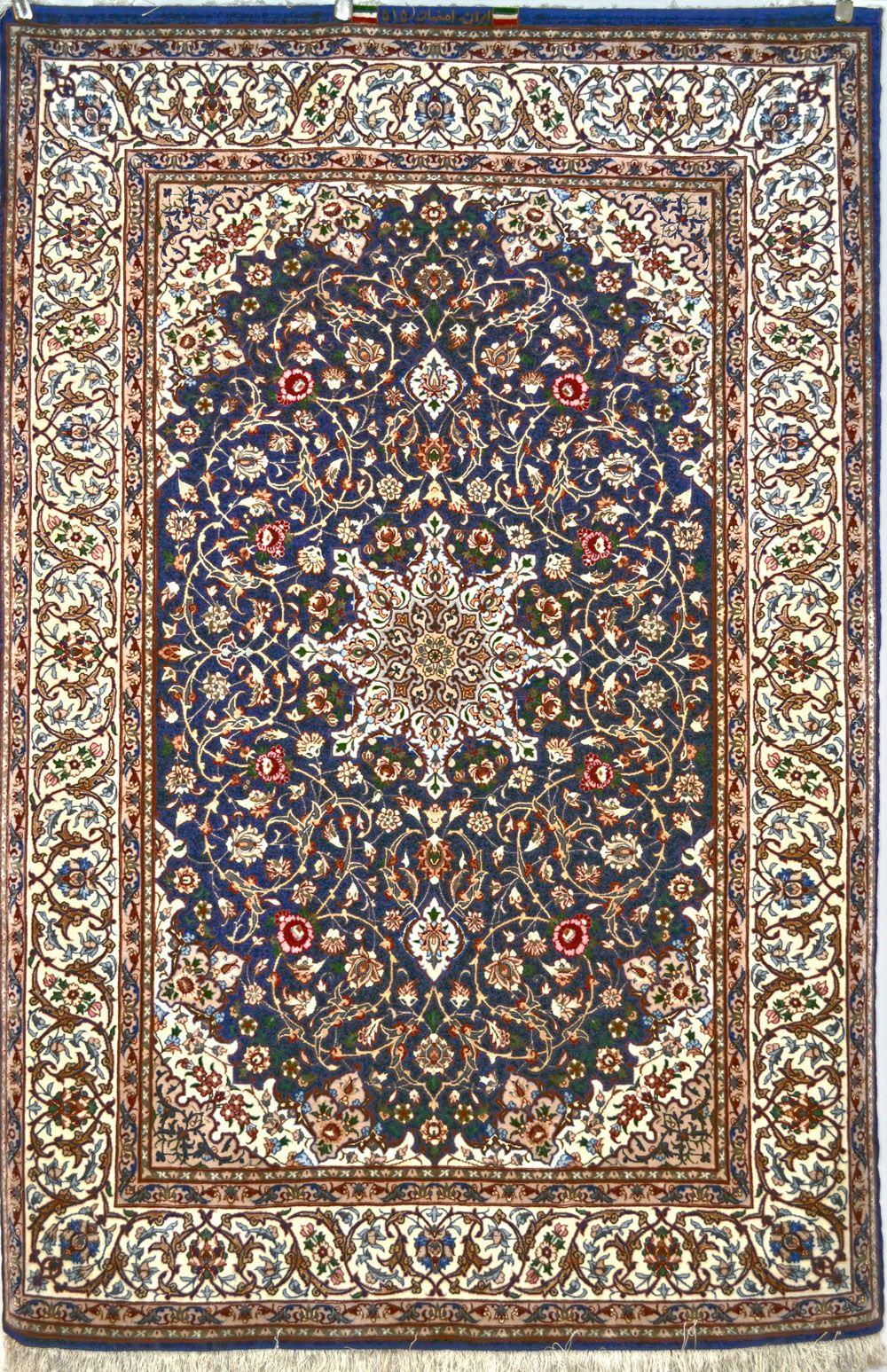 isfahan fine silk persian rug item pa902 isfahan silk area rug - 3x5 Rugs
